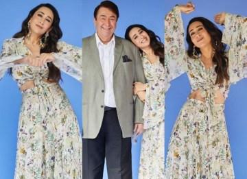 Karisma Kapoor makes a floral splash in an Anamika Khanna creation worth Rs. 28,000 for The Kapil Sharma : Bollywood News – Bollywood Hungama