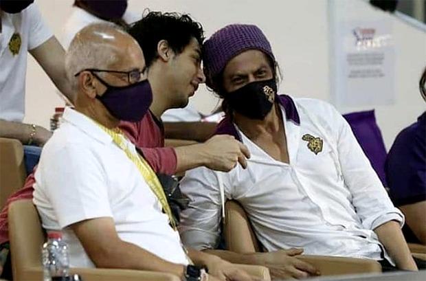 Shah Rukh Khan and Aryan Khan watched watching IPL matches in Dubai as Royal Challengers Bangalore crush Kolkata Knight Riders