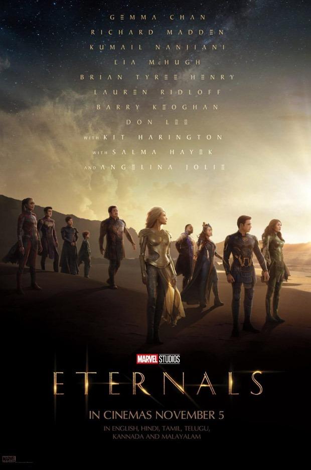 Marvel Studios' superhero epic Eternals to release in India on November 5 during Diwali