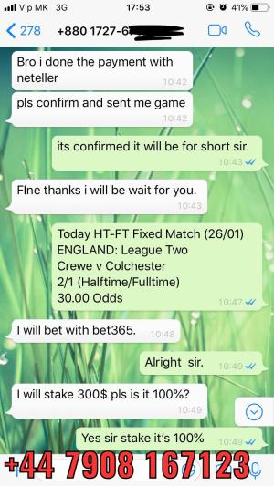 30 odd fixed matches