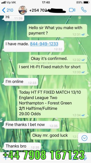 halftime fulltime fixed matches won 13 10
