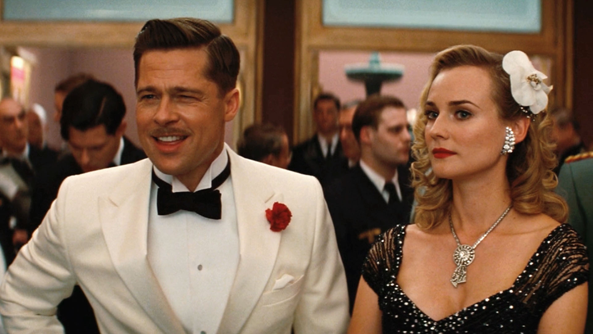 Image result for inglorious bastards brad pitt white tux