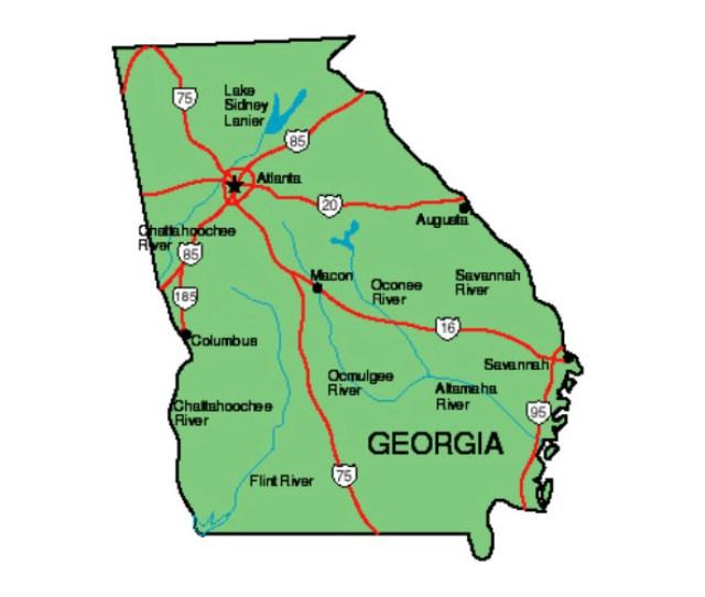 Georgia Location In The Us Georgia State Map
