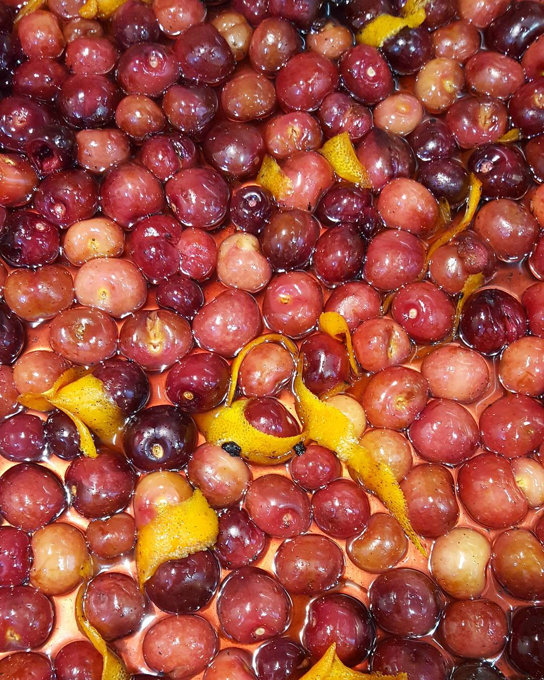 Three hour roasted cherries to top off our chocolate minthellip