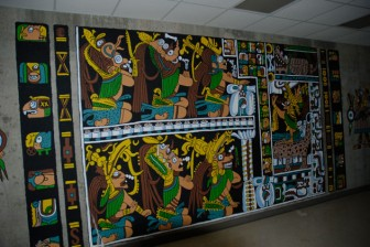 This Mayan mural, by Dr. Stanley Kronenberg, may not be saved at Fort Monmouth.