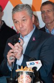 Evesham Township Mayor Randy Brown at the press conference announcing the arrival of Chickie's & Pete's (Steve Lubetkin Photo/StateBroadcastNews.com)