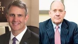 Christopher D. Maher, chairman, president and chief executive officer of OceanFirst Bank, left, and Thomas M. O'Brien, chief executive officer, president and director of Sun Bancorp