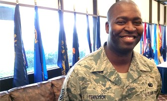 T/Sgt. Carter Tennyson, USAF, attendee at the Career Transition Summit