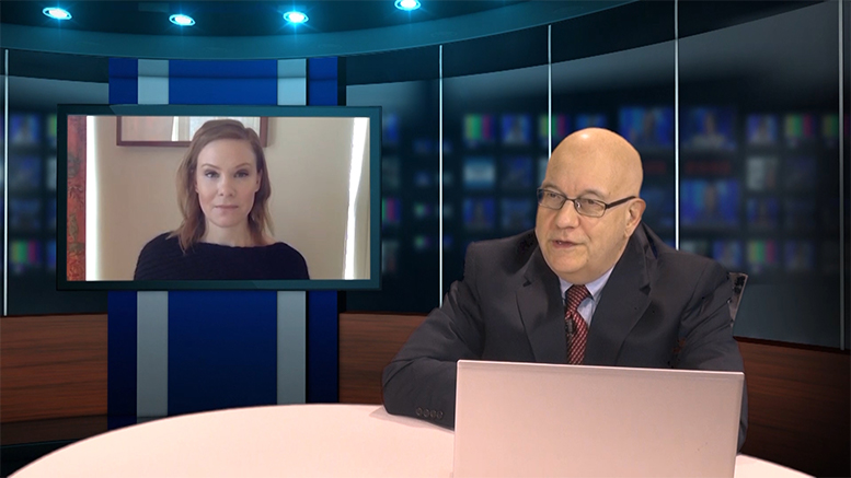 Steve Lubetkin, news director of StateBroadcastNews.com and national broadcast news correspondent for CEOReport.com, conducts CEOReport TV interview with Sara Seagall, CEO of Orsden Ski Wear. SBN is producing the programs in conjunction with CEOReport.com