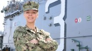 Navy Airman Adriana King of Haddonfield, NJ (Dustin Good photo/US Navy)