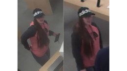 Security camera images of pickpocket suspect who stole a woman's purse and used her credit card. (Photos courtesy Evesham Township PD)