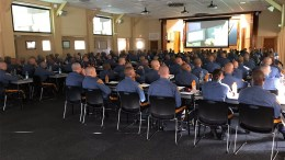 A portion of the SALDEF seminar for New Jersey State Police cadets.