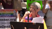 "One of the speakers at the Princeton, NJ, ""Families Belong Together"" protest June 30 was Rev. Carol Haag of the Unitarian Universalist Congregation of Princeton"