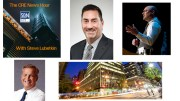 Guests on this episode of The CRE News Hour are (clockwise from top center): Mark Rose, CEO of Toronto-based global real estate firm Avison Young; Brad Molotsky, attorney and opportunity zone expert; and Richard Spengler, chief lending officer of Short Hills, NJ-based Investors Bank. Property shown is 733 Third Avenue, New York, where accounting firm Eisner Amper has just taken a major lease.