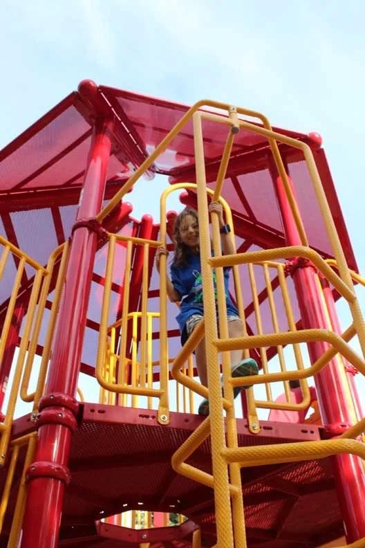 Kids playing at Fireman's Park