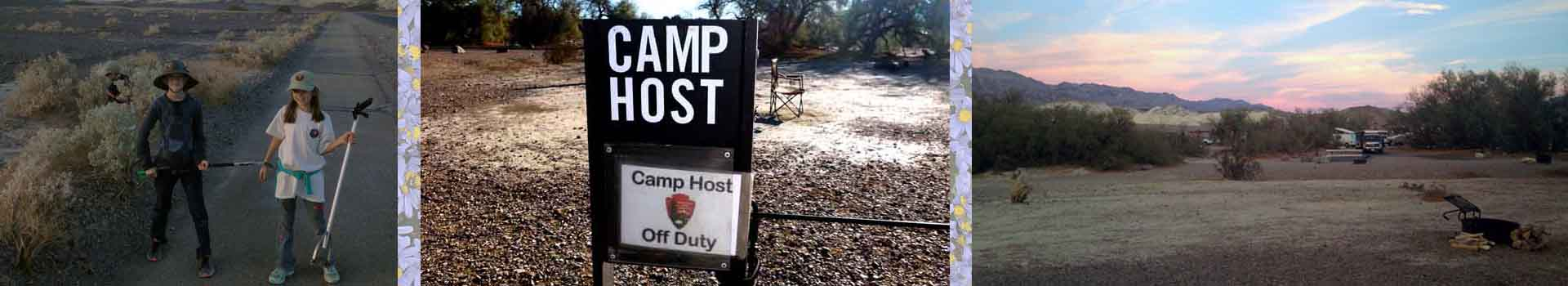 Camp Hosting Pros and Cons Banner