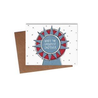 Father's Day Ribbon Card mock-up