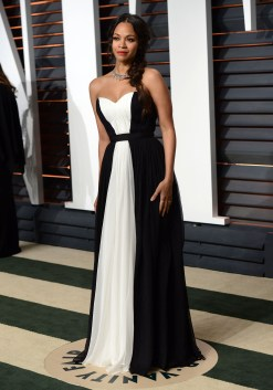 51662700 Celebrities at the 2015 Vanity Fair Oscar viewing party a the Wallis Annenberg Center for Performing Arts in Beverly Hills, California on February 22, 2015. Celebrities at the 2015 Vanity Fair Oscar viewing party a the Wallis Annenberg Center for Performing Arts in Beverly Hills, California on February 22, 2015. Pictured: Zoe Saldana FameFlynet, Inc - Beverly Hills, CA, USA - +1 (818) 307-4813 RESTRICTIONS APPLY: NO FRANCE