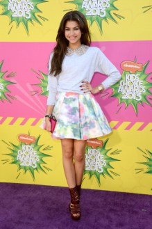 LOS ANGELES, CA - MARCH 23: Actress Zendaya Coleman arrives at Nickelodeon's 26th Annual Kids' Choice Awards at USC Galen Center on March 23, 2013 in Los Angeles, California. (Photo by Frazer Harrison/Getty Images)