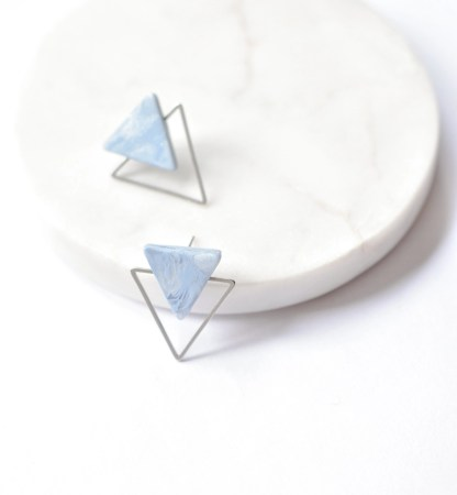 gold and silver stud earrings - pic_2