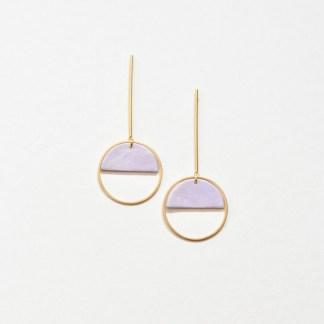 Marble Lilac dangling earrings
