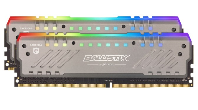 Crucial Ballistix Tactical Tracer RGB DDR4-2600 review