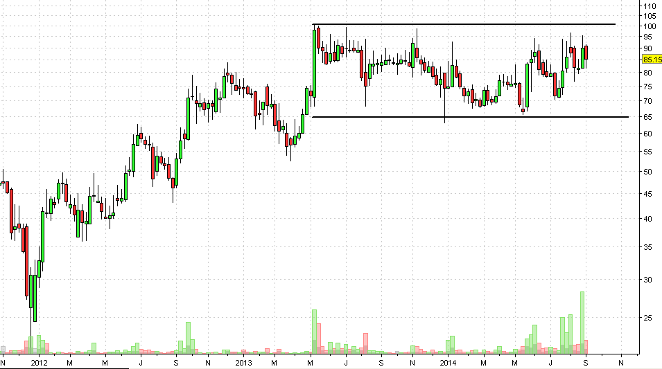 NDTV weekly chart