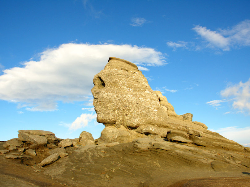 The Romanian Sphinx in the Bucegi Mountains aka the Romanian Sphinx and the Carpathian Sphinx