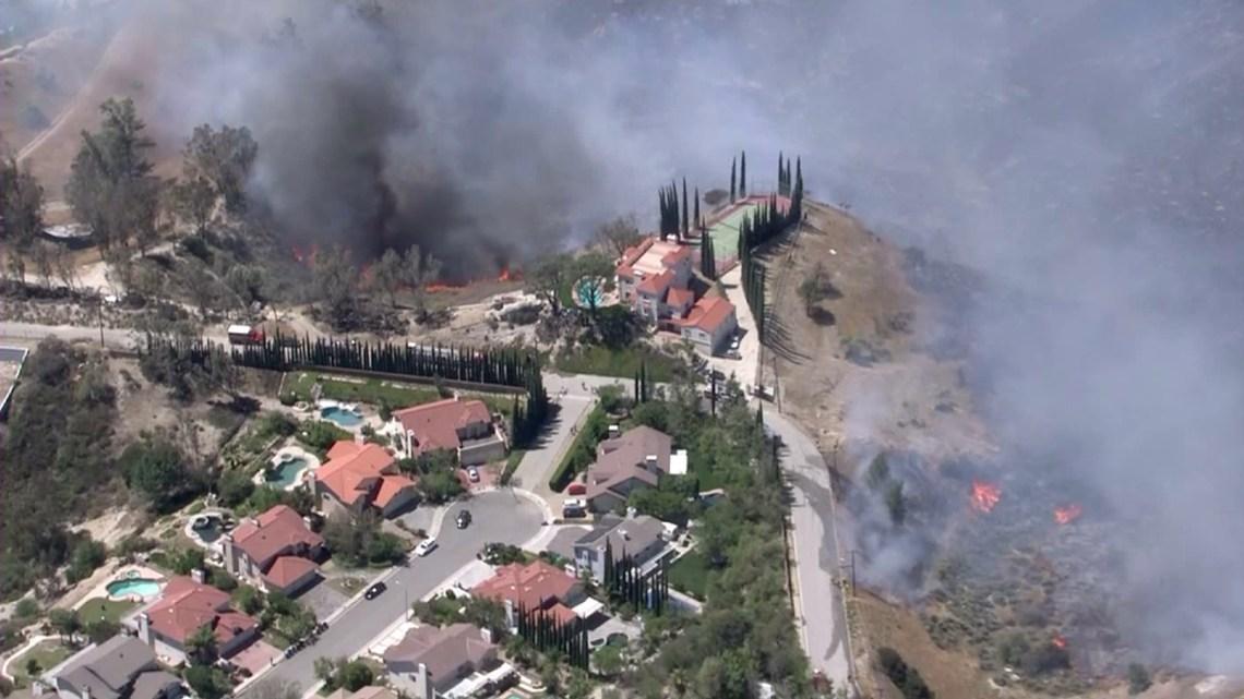 Firefighters Battle 2 Blazes in San Fernando Valley