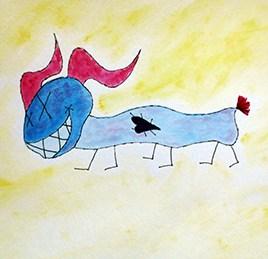 Yeii (gouache on watercolor paper 12 x 9)