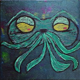Love Your Craft (acrylics, oils on canvas 12x12)