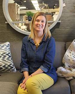 Jessica Ginneberge-Ware: One of the interior designers at State Street Interiors focuses on combining function, fun and comfort