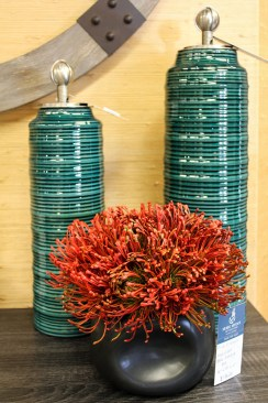 decor teal vases silk plant interior design