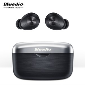 Bluedio Fi TWS Bluetooth Wireless Waterproof Sports Earbuds with Charging Case – Black