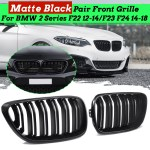 Pair Matte Black Double Slat Front Grille For Bmw F22 F23 F24 2 Series 14 18 Buy Sell Online Best Prices In Srilanka Daraz Lk
