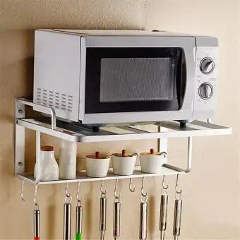 au hanging microwave oven stand storage rack shelf space saving kitchen bracket new hanging microwave oven stand storage rack shelf space saving