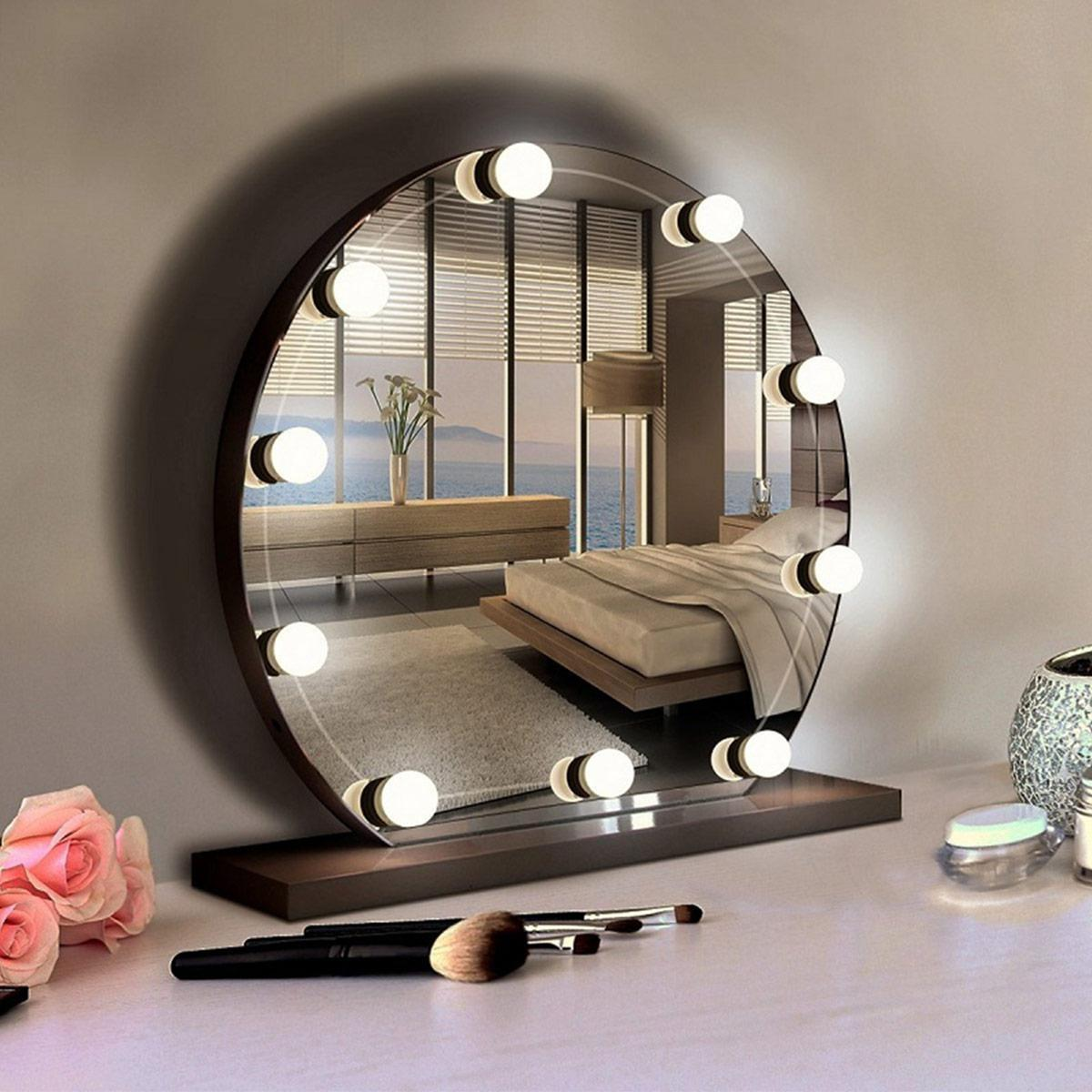 hollywood style led vanity mirror lights usb vanity lights makeup lighting with 10 dimmable light bulbs hollywood style led vanity mirror lights