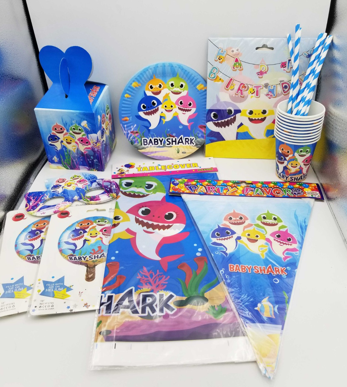 Baby Shark Theme For Birthday Party Supplies 10 Person Buy Online At Best Prices In Pakistan Daraz Pk