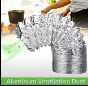 4 6 8 kitchen exhaust aluminium duct pipe for chimney kitchen hood imported flexible duct pipe 26ft 8 meter length