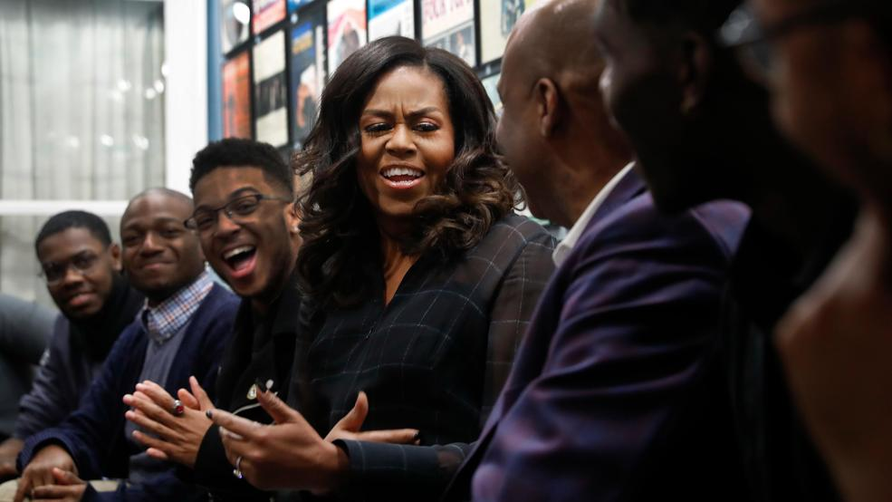 Image result for Michelle Obama Surprises Detroit Students At Motown Museum