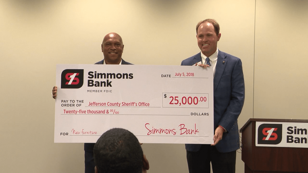 25000 Gift From Simmons Bank Helps Local Sheriffs