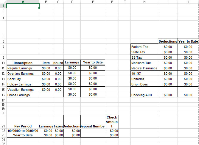 Paystub Template. 5 sample pay stub timeline template. excel pay ...
