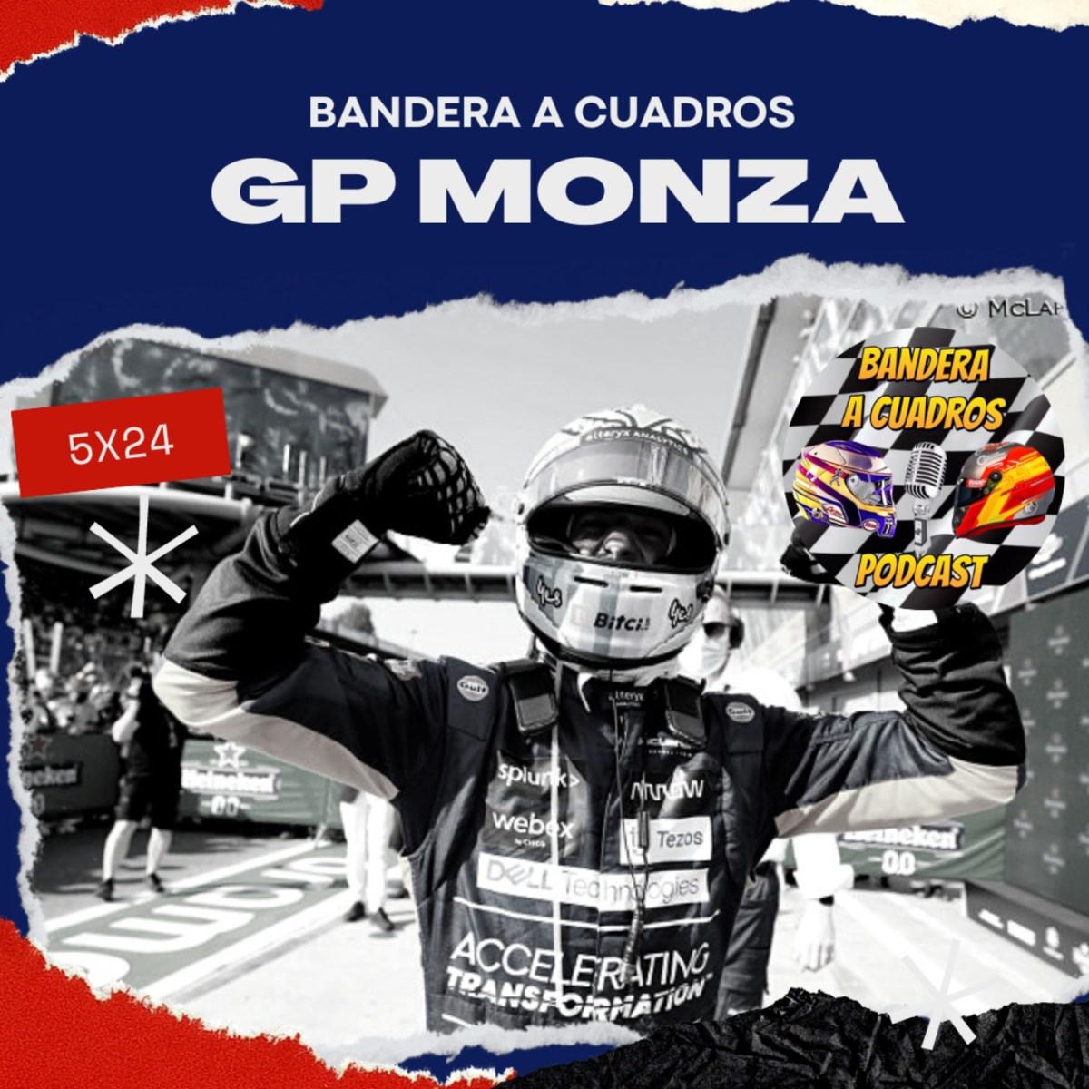 F1 Bandera a Cuadros 5×24 – GP Monza 2021 Doblete de Mclaren