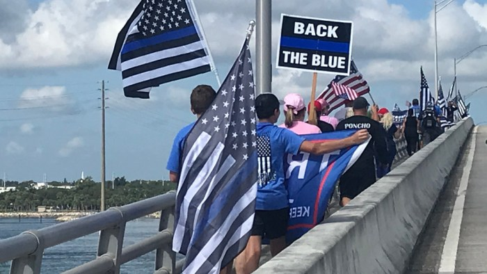 Back the Blue' rally shows support for police in Fort Pierce | WPEC