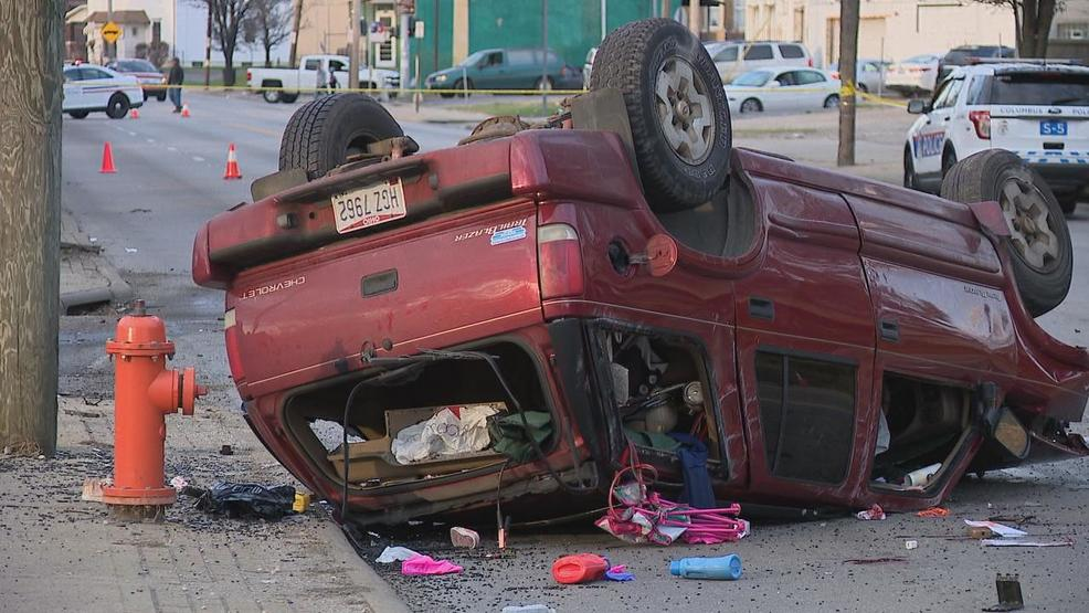 Image result for roll over crash cleveland ave columbus