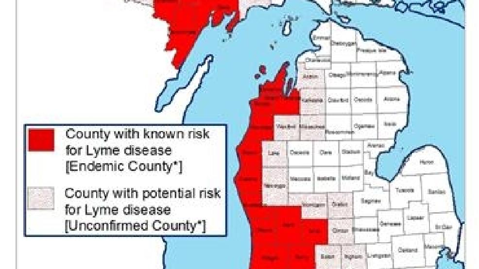 Map Michigan Disease Lyme