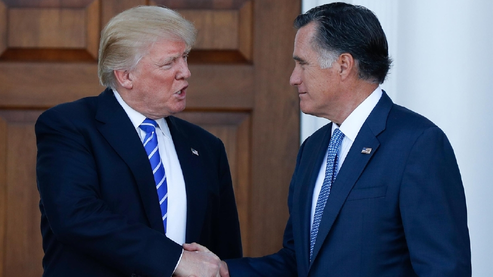Image result for trump meets with romney