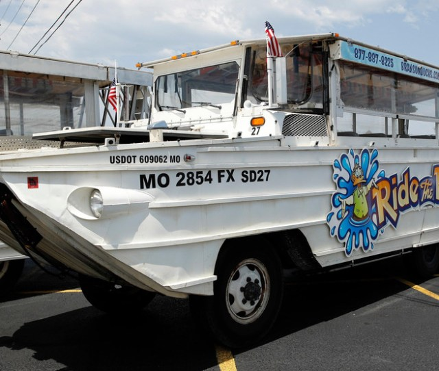 File In This July   File Photo A Duck Boat Sits Idle In The Parking Lot Of Ride The Ducks An Amphibious Tour Operator In Branson Mo