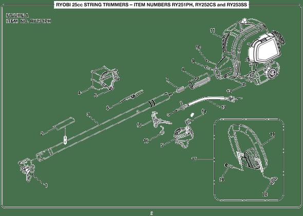 Ay 3941 Ryobi Weed Eater Parts Diagram