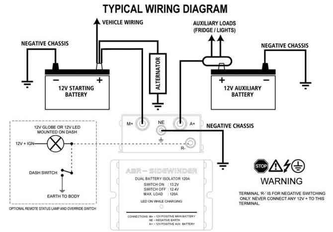 cs5376 battery wiring diagram on system with dual battery